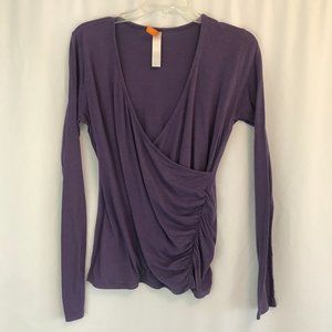 Lucy Faux Wrap LS Tee- Size S